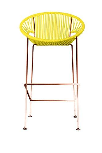 Innit Designs 10b.04.03 Puerto Stool (Bar) Yellow On Copper (Best Patio Toronto Restaurants)