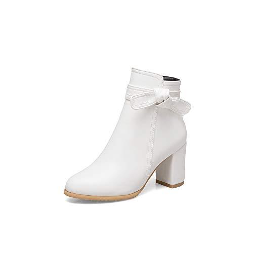 Alti Basso Women's Donna Con Tacco Da Whit Boots Largo Stivaletti E xH461P