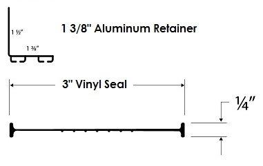 Universal Garage Door Bottom Weather Seal Replacement Kit for Up to 9' Door