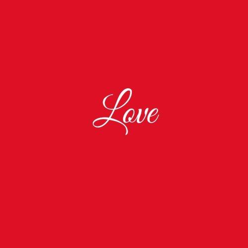 Love ..: Libro degli ospiti Love Matrimonio Guest book guestbook ospiti decorazioni accessori regalo sposa Matrimonio idee 100 Pagine Bianche 21 x 21 cm Copertina Rosso (Italian Edition)