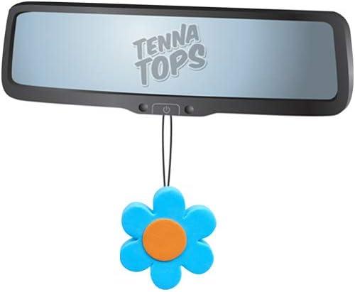 Tenna Tops Blue Daisy Flower Car Antenna Topper//Mirror Dangler//Desktop Spring Stand Fits Thick Fat Style Antenna