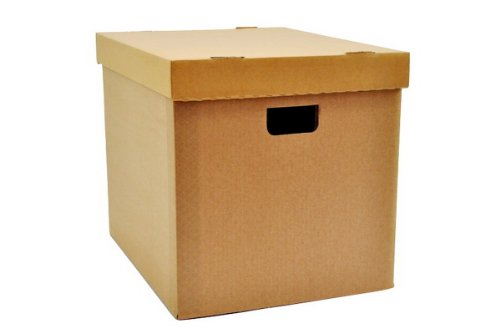 LP Schallplatten Vinyl Pappbox musictools, Kiste aus Wellpappe mit Deckel für 100 LPs