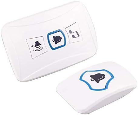 [해외]Multifunctional Transmitter Receiver Remote Control 150M Wireless Doorbell Alarm - White / Multifunctional Transmitter Receiver Remote Control 150M Wireless Doorbell Alarm - White