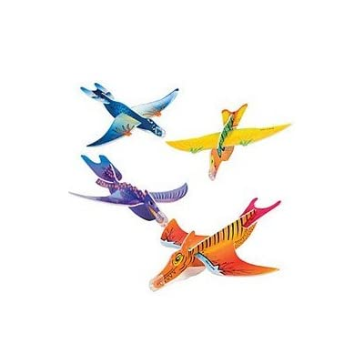 MunchieMoosKids Pack Of 6 Foam Dinosaur Gliders Great Party Loot Bag Fillers: Toys & Games [5Bkhe0904907]