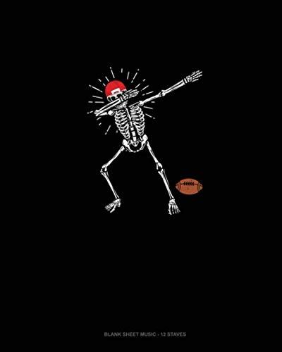 Skeleton Football Halloween: Blank Sheet Music - 12