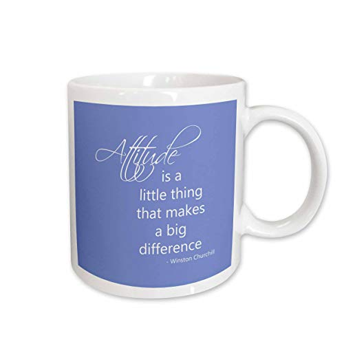 3dRose Attitude Makes a Difference Winston Churchill Quote Ceramic Mug, 15-Ounce