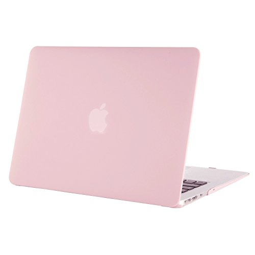 Pink Plastic Case (Mosiso Plastic Hard Case Cover for MacBook Air 13 Inch (Models: A1369 and A1466), Rose Quartz)