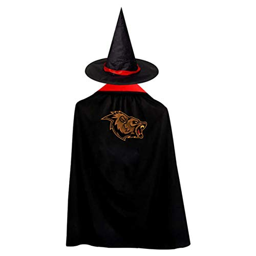 Angry Bear Kids' Witch Cape With Hat Generous Vampire Cloak For Halloween Cosplay Costume ()