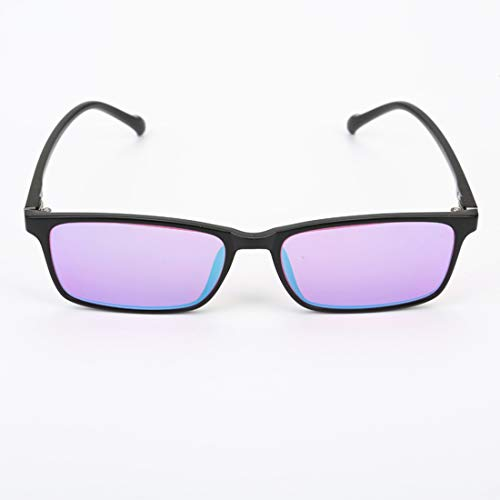 Color Blind Corrective Glasses for Red-Green Blindness, Medium Strong Grade Glasses for Color Vision Disorder, Color Weakness, Unisex, 2 Type Frame Glasses to ()