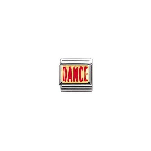 Nomination - 030229 - Maillon pour bracelet composable - Femme - Acier inoxydable et Or jaune 18 cts