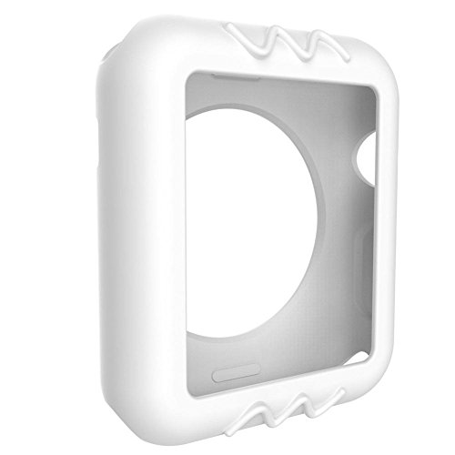 Price comparison product image HP95(TM) Ultra-Slim Silica Gel Protected Case Cover For Apple Watch Series 1 38mm (White)