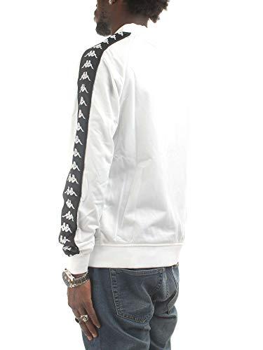 303WY10 Blanc Shirt J62 Homme Sweat S Kappa CxgdOwXqdZ