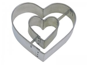 R and M Heart in Heart Cookie Cutter