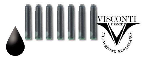 Visconti Refills Pack of 7 Black Fountain Pen Cartridge - V-A5202