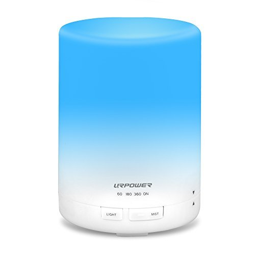 Single Perfume Oils (URPOWER 2nd Gen 300ml Aroma Essential Oil Diffuser Night Light Ultrasonic Air Humidifier with AUTO Shut off and 6-7 HOURS Continuous Diffusing - 7 Color Changing LED Lights and 4 Timer Settings)
