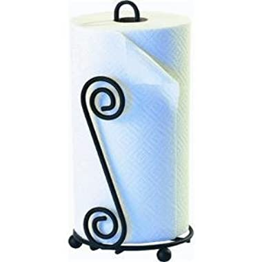 SPECTRUM DIVERSIFIED DESIGNS Black Scroll Paper Towel Holder