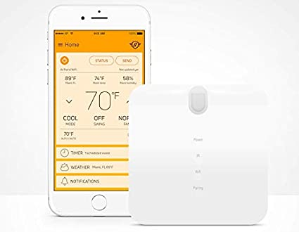 AirPatrol WiFi  Smart Air Conditioner Controller for mini-split, window or  portable AC  iOS/Android Compatible, US Version, Compatible with Alexa with