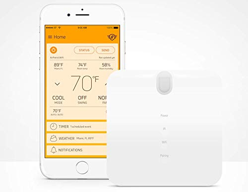 AirPatrol WiFi. Smart Air Conditioner Controller for mini-split, window or portable AC. iOS/Android Compatible, US Version, Compatible with Alexa with IFTTT