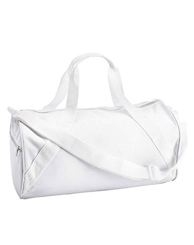 Recycled Small Duffle - NEW Liberty Bags Recycled Small LIGHT WEIGHT WORKOUT BALL Duffle Gym Bag WHITE