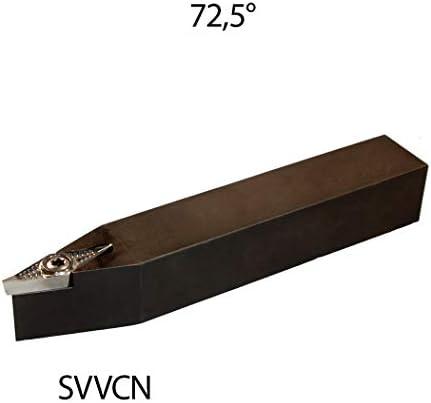 1 Stück ISO Klemmhalter 10x10 SVVCN 1010 E11-BS Drehstahl 72,5 Grad Rechts für Wendeplatten VCGT/VCMT 1103.