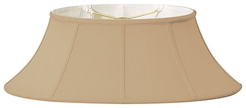 Gold Design Oval (Royal Designs Shallow Oval Designer Lamp Shade, Antique Gold, (7.5x12) x (10 x 20) x 8)