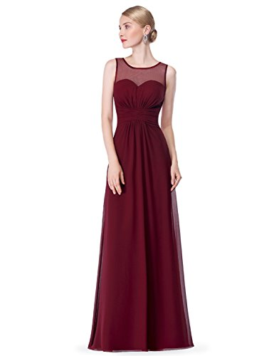 Elegante Sans Manche 08761 Robe Bordeux Longue Ever Soiree de Pretty nwq7OR7PX
