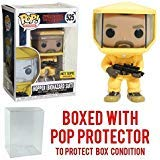- Funko Pop! Television Pop! Stranger Things Hopper Biohazard Suit, Hot Topic Exclusive Collectible Vinyl Figure (Bundled with Pop Box Protector Case)