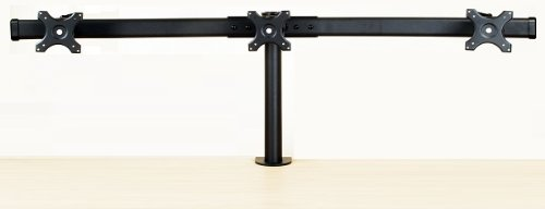 EZM Deluxe Triple Monitor Mount Stand Desktop Clamp Supports up to 3 -