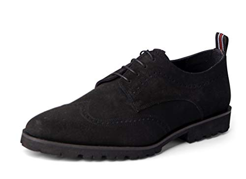 Carlos Santana Gitano LITE Men's Wingtip Oxford Lightweight and Flexible Dress Shoe in Lug Sole for Everyday Style and Comfort (10.5 D US, Black Calfskin Suede)