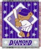 MLB Arizona Diamondbacks Original Woven Jacquard Baby Throw, 36