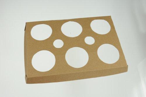 Backtablett für 6 Tulpen - hitzebeständiger Karton - 3 Stück - 3-4 mal verwendbar bis max.180°C