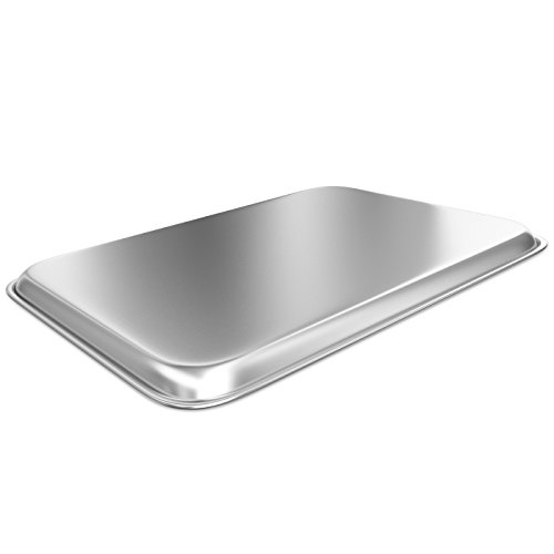Baking Sheet with Cooling Rack - Aluminum Half Size Cookie Sheet 18 Inch x 13 Inch for Oven Use by Culinary Depot (Image #3)