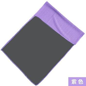 Toallas frías de verano Deportes Toalla de secado instantáneo Cold-Sense Enfríe Sweat-Wicking fría toallas Limpie el sudor hielo toallas toallas púrpura: ...
