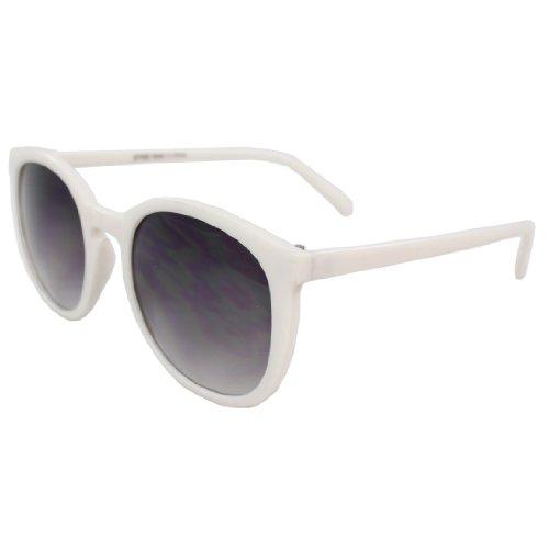 MLC Eyewear NGJP7083WHTPB Stilvolle Retro Oval Sonnenbrillen Gangname Stil Weiß