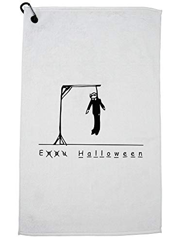 Hollywood Thread Funny Hangman Halloween Dead Stick Figure Golf Towel with Carabiner Clip]()