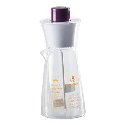 Recipiente para mezclar aliños de ensalada batidora de vaso de 4 recetas de plástico y de