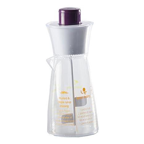 Recipiente para mezclar aliños de ensalada batidora de vaso de 4 recetas de plástico y de coloures: Amazon.es: Hogar