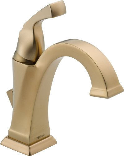 Delta Faucet Dryden Single-Handle Bathroom Faucet with Diamond Seal Technology and Metal Drain Assembly, Champagne Bronze 551-CZ-DST