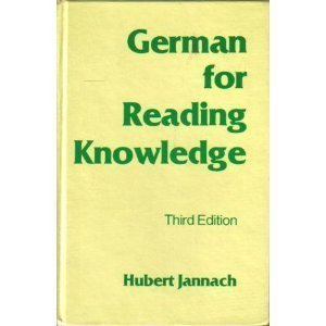 German for Reading Knowledge (English and German Edition) by Hubert Jannach (1980-06-01) -  Heinle & Heinle Pub; 3rd edition (1980-06-01)