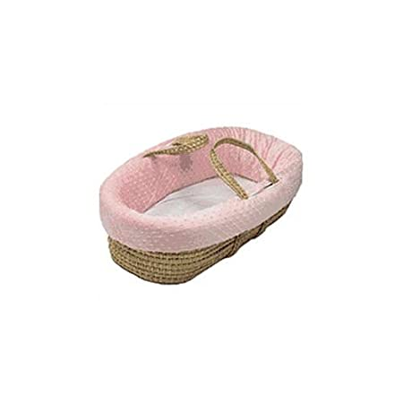 BabyDoll Bedding Heavenly Soft Moses Basket, Pink 8000mb