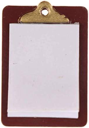 1/6 1/12スケール ミニチュア クリップボード ペーパー付き ドールハウス 人形の家 装飾用品