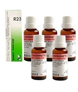 5 x Dr.Reckeweg-Germany R23- Eczema Drops (Pack of 5) EXPEDITED INTERNATIONAL DELIVERY