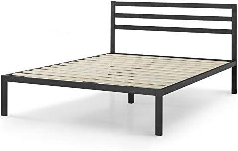 Zinus Mia Modern Studio 14 Inch Platform 1500H Metal Bed Frame With Headboard, Queen