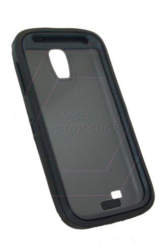 Vs 1 Stop Shop ®TM Samsung S4 Protector - Generic for Otterbox  (Sleek (Black/Black))