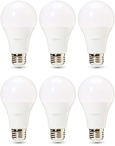 AmazonBasics Commercial Grade LED Light Bulb | 100-Watt Equivalent, A21, Soft White, Dimmable, 6-Pack