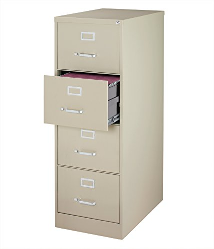 Office Dimensions Commercial 4 Drawer Legal Width Vertical File Cabinet, 26.5