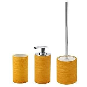 Sole accesorios de ba o de 3 piezas set color naranja - Accesorios de bano amazon ...