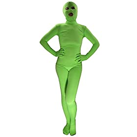 - 31T4Yr4JS9L - Ensnovo Womens Spandex Zentai Full Body Unitard Eyes Open Mouth Open