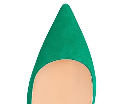 Femmes Shiney Talons Aiguilles Vacances Mariage Des Hauts De Chaussures Banquet Dames Velvet Vert Unique Iwaqw4p
