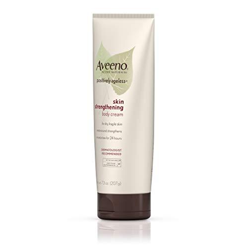 31T4Zy6Xh1L - Aveeno Positively Ageless Skin Strengthening Body Cream, Moisturizes For 24 Hours 7.3 Oz